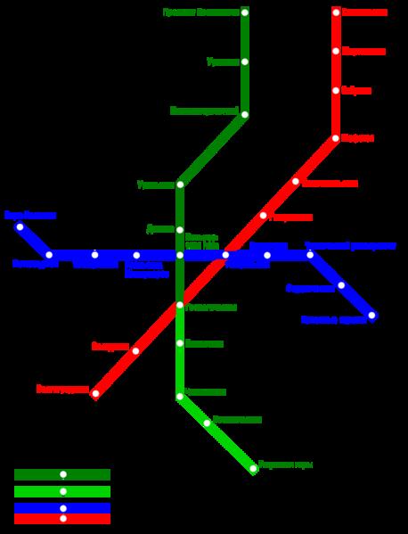 Схема метрополитена г.